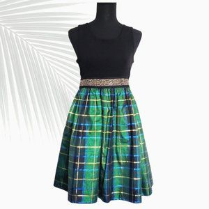 Bonnie Jean Girls Plaid Taffeta Dress Size 16